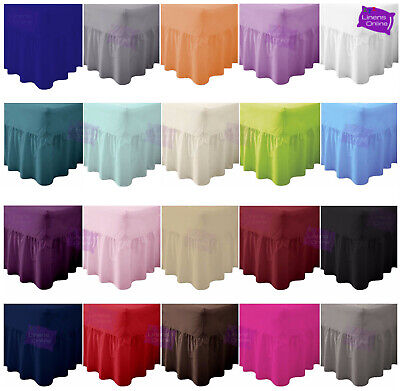 £2.49 • Buy Plain Dyed Fitted Valance Sheet Poly-Cotton Bed Sheet Single Double & King Sizes