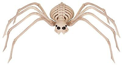 $27.77 • Buy LG 3Ft SKELETON SPIDER Movable Legs Head Halloween Haunted House Prop Decoration
