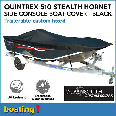 AU309 • Buy Quintrex 510 Stealth Hornet Side Console Trailerable Custom Fitted Boat Cover