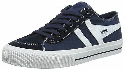 Gola Quota II Navy White Mens Canvas Suede Trainers • 34.99£