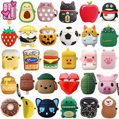 $ CDN6.35 • Buy 3D Cute Cartoon Silicone Airpod Protective Case Cover Skin For Apple Airpods 1/2