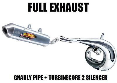 $409.81 • Buy Full Fmf Gnarly Pipe Exhaust And Turbinecore 2 Silencer 2004 Kawasaki Kx250