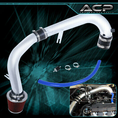 $55.99 • Buy Cold Air Intake + Red Air Filter For 01 02 03 04 05 Honda Civic Dx/Lx/Ex Mt 1.7L