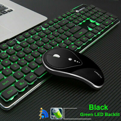 AU56.89 • Buy AU 2.4G Wireless Rechargeable Gaming Keyboard Mouse LED Backlit Ergonomic LT600