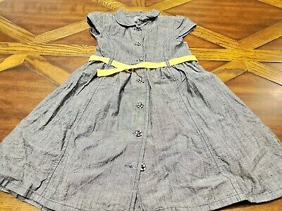 $3.95 • Buy Gymboree Size 6 Bee Chic Belted Denim Dress