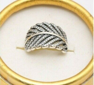 Genuine  Silver S925  Sparkling Light As A Feather Ring Size 58 Sale Limited Qty • 9.99£