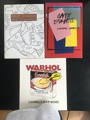 $99 • Buy Andy Warhol Lot Of 3 Catalogs Books Toy Drawings Vanishing Animals