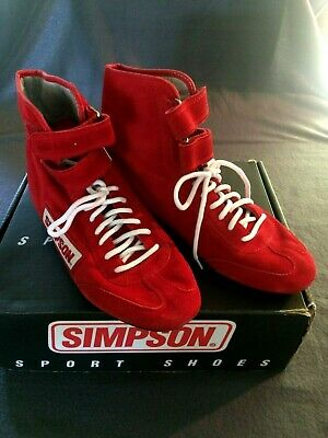 $88.81 • Buy Simpson 28000 Suede Hightop Racing Riding Shoes Men's Size 6 ½ Red