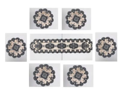 AU20.48 • Buy Velvet Glitter Round Dining Placemats + Table Runner Table Place Mats Decoration