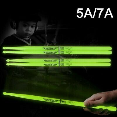 AU19.97 • Buy 5A/7A Drum Sticks Glow In The Dark Stage Percussion Band Musical Instrument