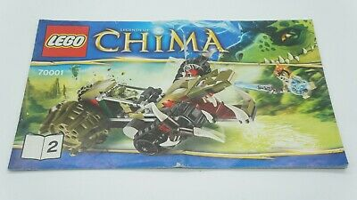 AU3.33 • Buy LEGO Chima - 70001 'Crawley's Claw Ripper' INSTRUCTION MANUAL ONLY - BOOK 2 Ede