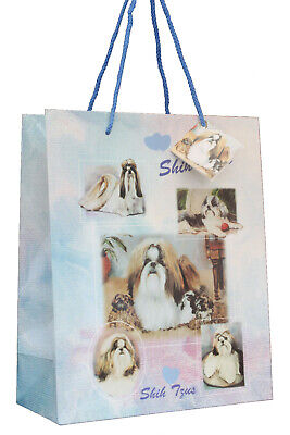 £5.99 • Buy Shih Tzu Breed Of Dog Quality Large Gift Bag & Gift Tag Present Occasion