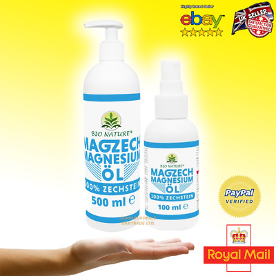 £8.99 • Buy  Zachstein Sea Magnesium Oil 100/500ml 100% Pure Natural Soothes Muscle Cramps