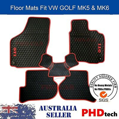 AU89 • Buy Premium Quality Tailor Made Rubber Car Floor Mats VW Golf GTI MK5/6 All Weather