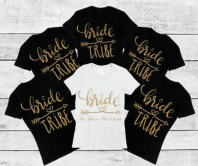£8.99 • Buy Personalised Names Printed Bride Tribe, Hen Party, Hen Do, Night T-shirt Top