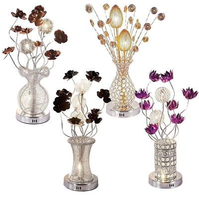 Aluminium Flower LED Vase Design Table Floor Lamp Home Office Lighting G4 Bulb • 29.59£