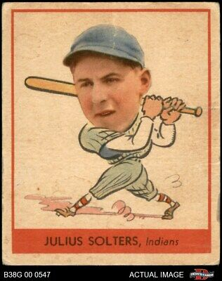 $62.50 • Buy 1938 Goudey Heads Up Julius Solters #255 / #279 Indians 1.5 - FAIR