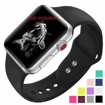 $ CDN8.73 • Buy Smooth Silicone Watch Strap Band For Apple IWatch 1 2 3 4 5 38/40 42/44 Mm