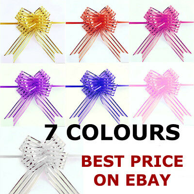 10 Pcs 30MM Ribbon Wedding Flower Pull Bows Birthday Party Present Gift Deco • 4.89£