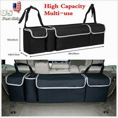 $27.49 • Buy Car Trunk Organizer Car Interior Accessories Back Seat Storage Box Bag Multi-use