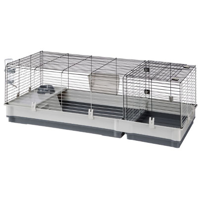 £75.99 • Buy Ferplast Plaza 140 Small Pet Cage - Grey Spacious, For Rabbits & Guinea Pigs