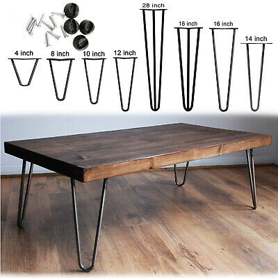 4 X Hairpin Legs / Hair Pin Legs Set For Furniture Bench Desk Table Metal Steel • 17.90£