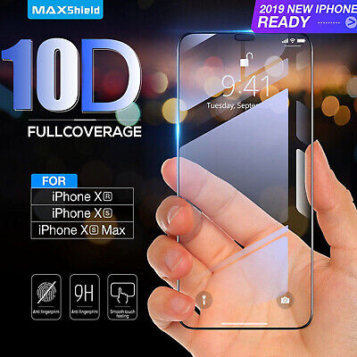 10D Tempered Glass Screen Protector Film For IPhone X XS Max XR 7 8 Plus 11 Pro • 1.98£
