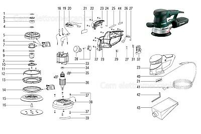 Spare Parts Original For Sander Metabo Sxe 450 Turbotec 00129000 Replacement • 18.45£