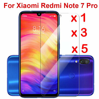 $1.28 • Buy For Xiaomi Redmi Note 7 Clear Tempered Glass Screen Protector Protection-SL