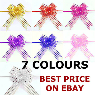 10/20pcs 30MM Ribbon Wedding Flower Pull Bows Birthday Party Present Gift Deco • 2.19£