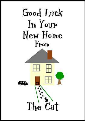 Good Luck In Your New Home Card From The Cat - 1 • 2.99£