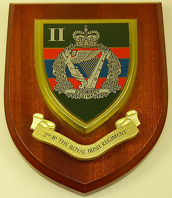 2nd Btn Royal Irish Regiment Classic Hand Made In The Uk Regiment Mess Plaque • 19.99£