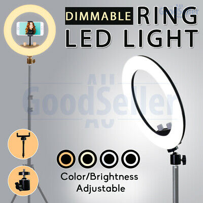 AU26.98 • Buy 5800K Dimmable Diva LED Ring Light Fill Lighting Lamp Phone Stand Make Up Video