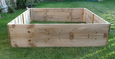 30cm High Raised Bed Wooden Garden Planter, Vegetables, Seeds, Bedding, Herbs • 62£