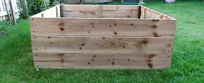 45cm High Raised Bed Wooden Garden Planter, Vegetables, Seeds, Bedding, Herbs • 46£