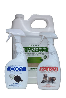 £66.99 • Buy *VALUE PACK* Genuine Kirby Shampoo, Spot Remover With Oxy And Heavy Traffic