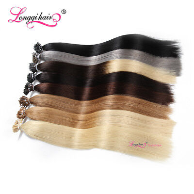 $31.12 • Buy I Tip Human Hair Extensions Keratin Stick 8A Malaysian Remy Real Human Hair USPS