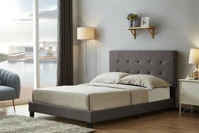 £107.95 • Buy Birlea Rochelle Grey Fabric Low End Bed With Buttoned Headboard - 3ft Single