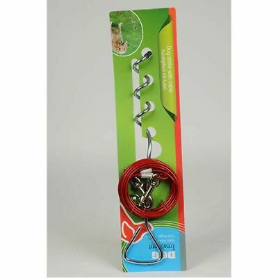 Dog Spiral Tie-Out Stake With Cable Lead 4.5m • 11.99£
