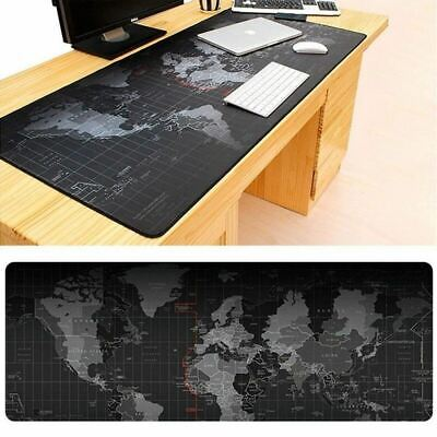 Anti-slip World Map Extra Large Computer Keyboard Mouse Pad Desk 90x40cm Mat • 9.49£