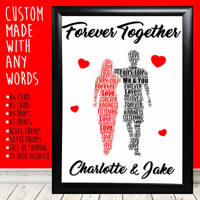 Personalised Me And You Anniversary Special Gift For Him Her 1st 5th 10th 20th • 9.99£