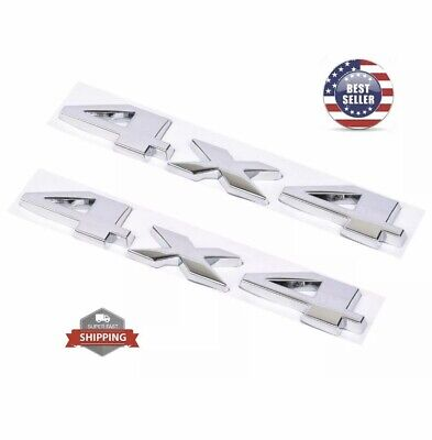 $11.99 • Buy 2Pcs 4 X 4 3D Decal Emblems Sticker For Ford Dodge JEEP Grand Cherokee Chrome BL