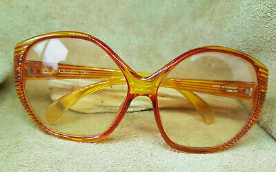 Used Christian Dior 2061 30 Germany Eyeglass Frames Frames Red Yellow • 55£