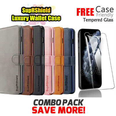 AU11.49 • Buy IPhone 11 Pro Max XR 7 8 Plus Flip Wallet Case Leather Magnetic Cover For Apple