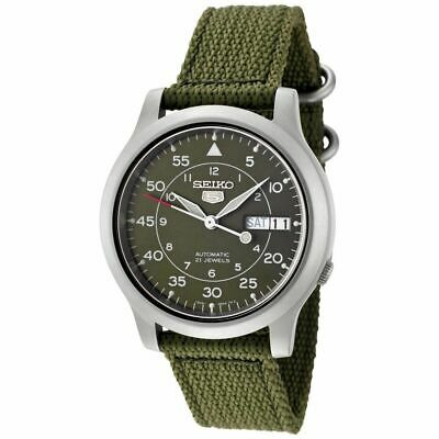 $ CDN172.78 • Buy Seiko 5 SNK805 MILITARY Automatic Day-Date Green Nylon Band Men's Watch SNK805K2