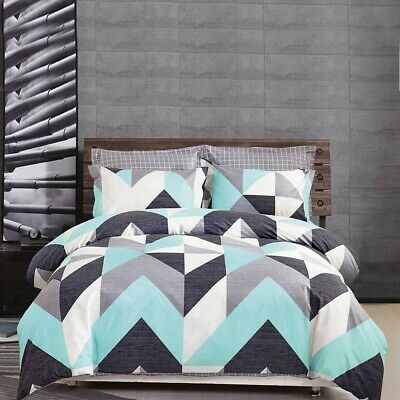 AU45 • Buy Single/KS/Double/Queen/King/Super K 100% Cotton Quilt/Duvet Cover Set-Chevron
