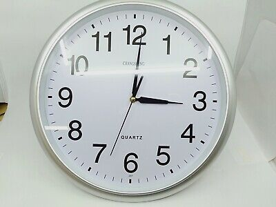 AU17.99 • Buy 36cm Wall Clock Silent Non Ticking -Quality Quartz, 14 Inch Round Easy To Read