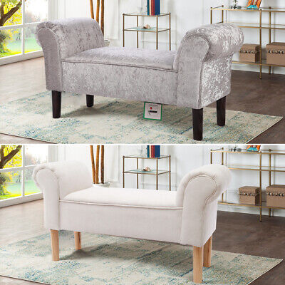 Padded Soft Fabric/Velvet Luxury Benches Window Seat Bedroom Bed End Stool Bench • 65.95£