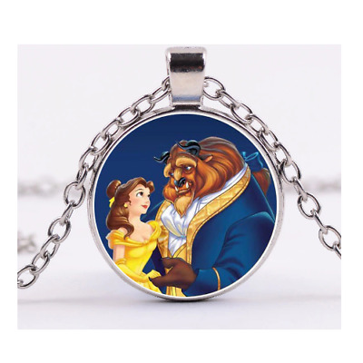Beauty And The Beast Necklace Belle Dancing Couple Girls Ladies Disney Gift  • 2.99£