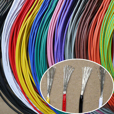 £2.09 • Buy 16awg - 30awg Flexible Electronic Wire UL1007 Stranded Cable 11 Colors Choose